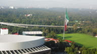 Elevated view of National Auditorium, Mexico City, Mexico video