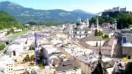 Elevated View of Salzburg PAN video