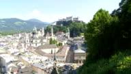 Elevated View of Salzburg (Tilt Up) video