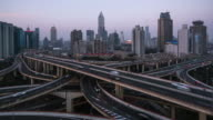 T/L WS ZI Elevated View of Shanghai Highway video