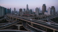 T/L WS TD Elevated View of Shanghai Highway video