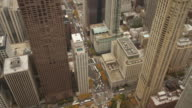 Elevated view on downtown Chicago, USA video