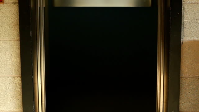 Elevator door opening and closing video