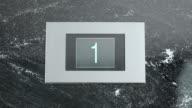 LD Elevator indicator screen showing floor number video