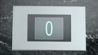 LD Elevator indicator showing numbers going down video