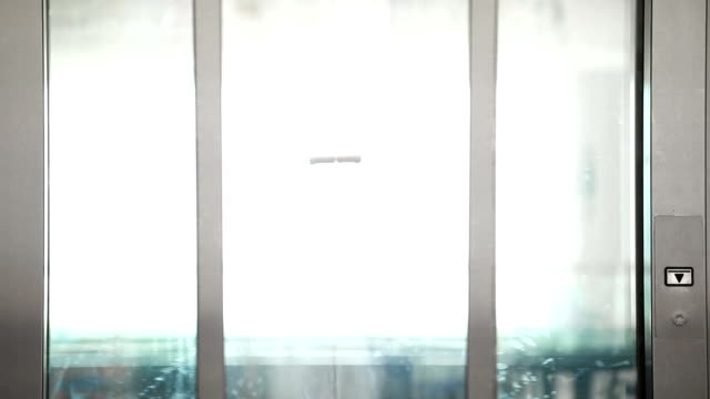 Elevator is arriving and doors close video