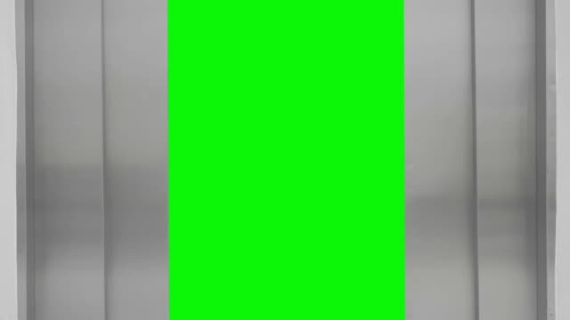 Elevator open and  close to green screen video