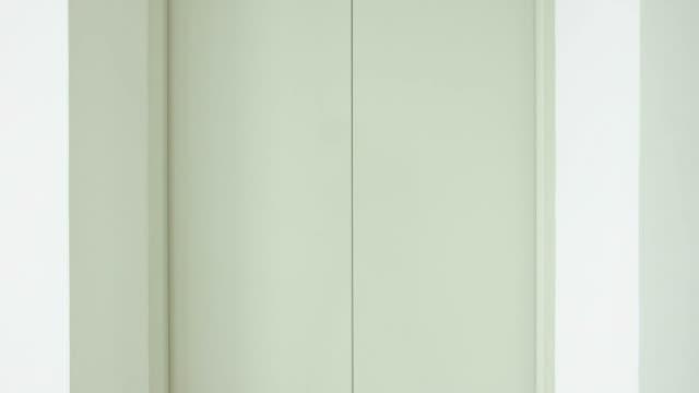 Elevator or lift doors opening video