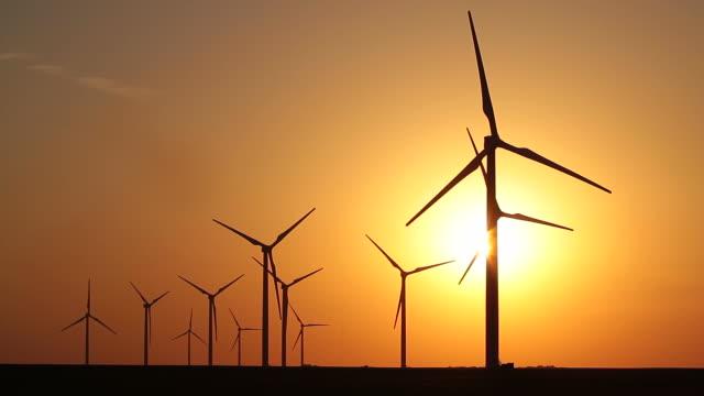 Eleven Wind Turbines video