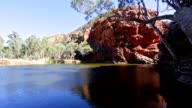 Ellery Creek Big Hole Waterhole Northern Territory, Australia video