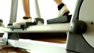 Elliptical machine running. video
