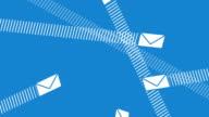 Email Envelopes Flying Around video