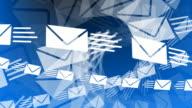 Email Envelopes Flying video