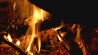 Embers in the fireplace video