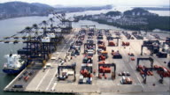 Embraport Container Terminal  - Aerial View - São Paulo,Brazil video