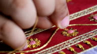 embroider with Thai pattern. video
