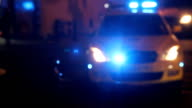 HD: Emergency Police Lights video