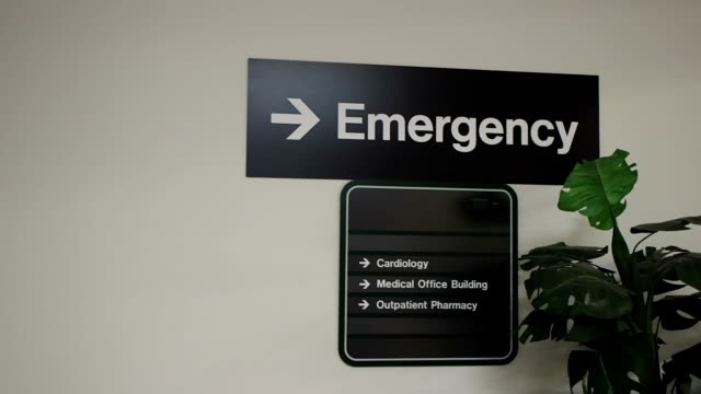 Emergency Room Signs At Hospital video