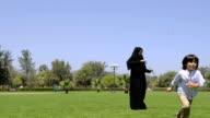 Emirati family at the park video