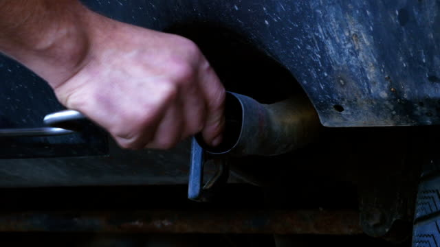 Emission Inspection In Auto Repair Shop (4K/UHD to HD) video