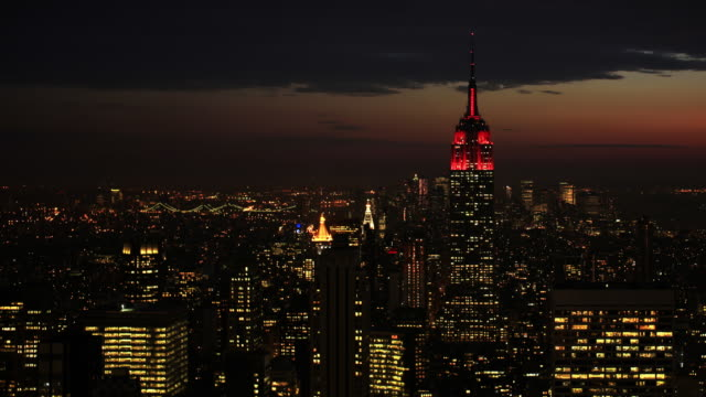 Empire State Building dusk time lapse video