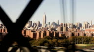 Empire State Building From Subway On Manhattan Bridge NYC video