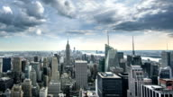 Empire State Building Manhattan NYC Beautiful Day to Night Timelapse video