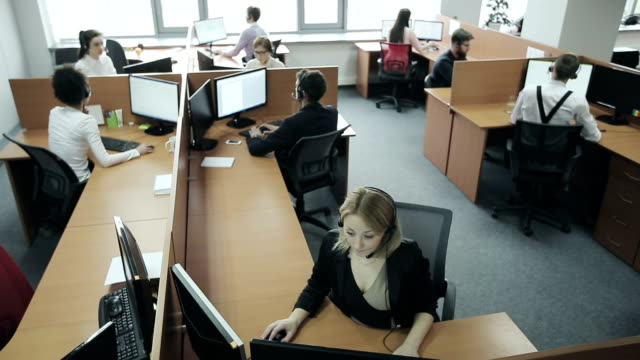 Employees of call center video