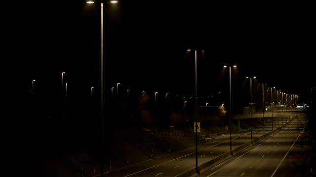 Empty Beltway At Night video