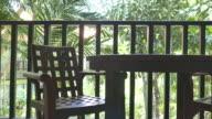 Empty chair deck video