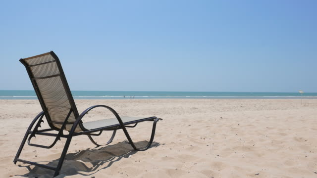 Empty chair on the beach video