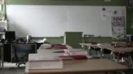 Empty Desks in School Classroom (4K) video