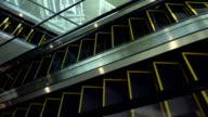 Empty escalator moving video