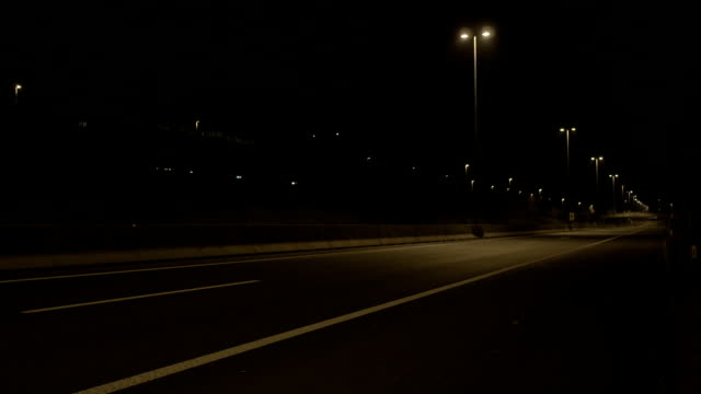 Empty Freeway At Night video