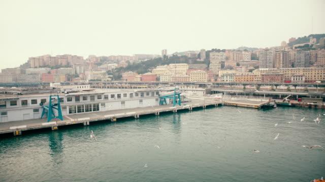 WS Empty harbor in Genova video
