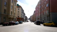 Empty Helsinki street at sunny day video