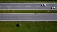 AERIAL: Empty highway video