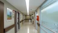 Empty hospital corridor video