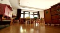 Empty kindergarten classroom video