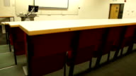 HD CRANE: Empty Lecture hall from the back video