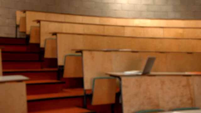 Empty lecture hall video