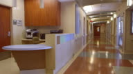 Empty Nurses Station And Corridor In Hospital Shot On R3D video