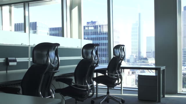 Empty Office Desks - Dolly video