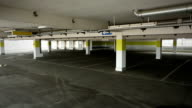 Empty parking garage video