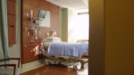 Empty Patient Room In Modern Hospital Shot On R3D video