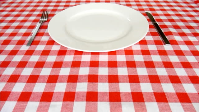 Empty plate. video