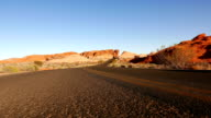 Empty road through the Valley of Fire National Park video