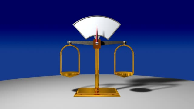 Empty Scale Balance video