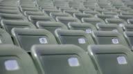 Empty seats in a stadium video
