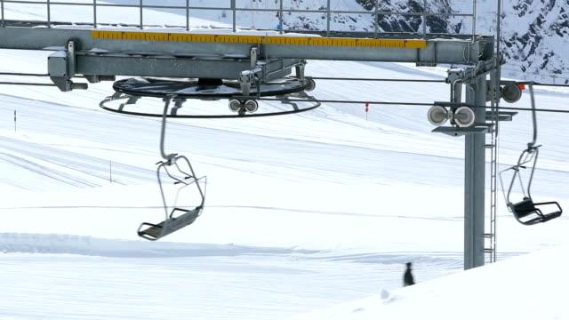 Empty ski lift video